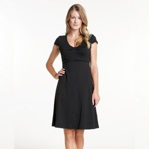 HORNY TOAD Black Casual Tencel/Cotton Dress, Med.